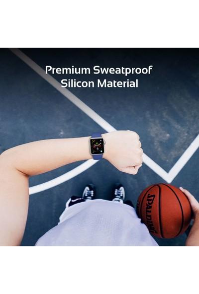 Promate Oryx-42Sm Apple Watch Saat Kordonu Silikon 42mm Küçük/Orta Boy