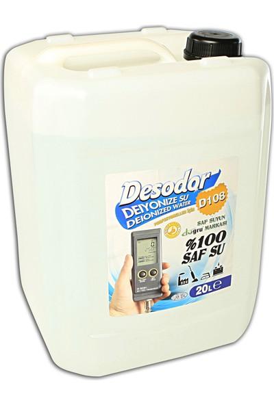 Desodor D108 Deiyonize Su Deionized Water Saf Su Destile Su 20 lt