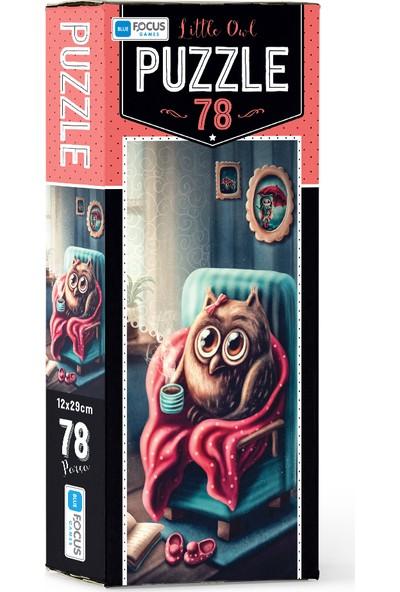 Blue Focus 78 Parça Puzzle Little Owl