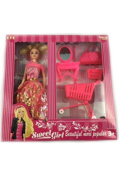 Efe Sweet Girl Gardroplu Oyuncak Bebek