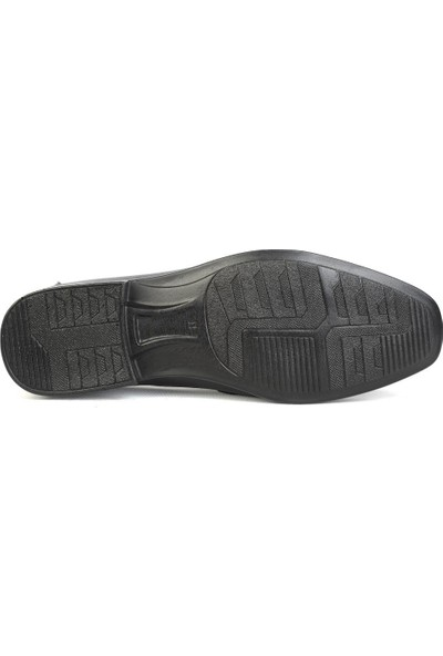 Balayk 1161 Siyah Deri Günlük Erkek Klasik Ayakkabı