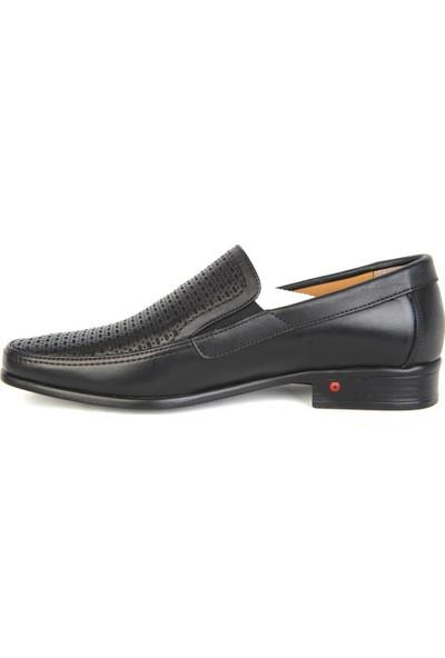 Balayk 1166 Siyah Deri Günlük Erkek Klasik Ayakkabı