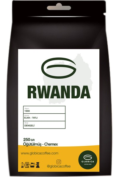 Globica Rwanda Ruanda Filtre Kahve 250 gr - Chemex