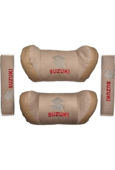 TrendGaraj Suzuki Bej Boyun Yastık Seti