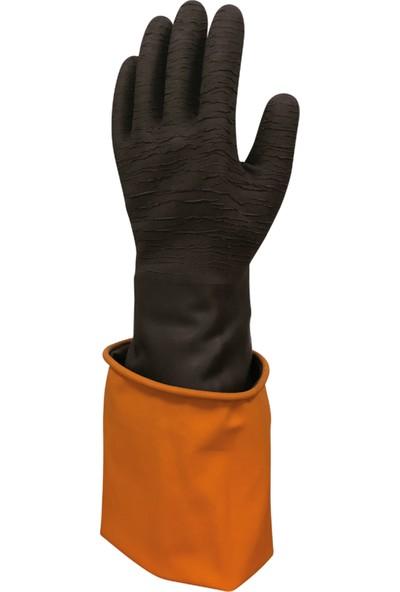 Beybi Korun Uzun Siyah Tırtıklı Eldiven 60 cm