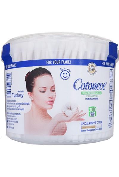 Cotoneve Pamuklu Kulak Temizleme Çubuğu 300 Adet