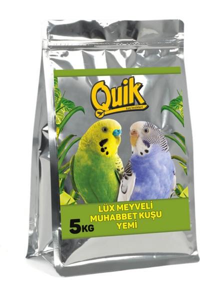 Quik Lüx Meyveli Muhabbet Kuşu Yemi 5 kg Torba