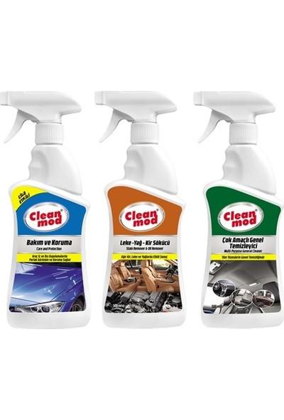 Cleanmod 3'lü Oto İç Temizlik Koruma Seti