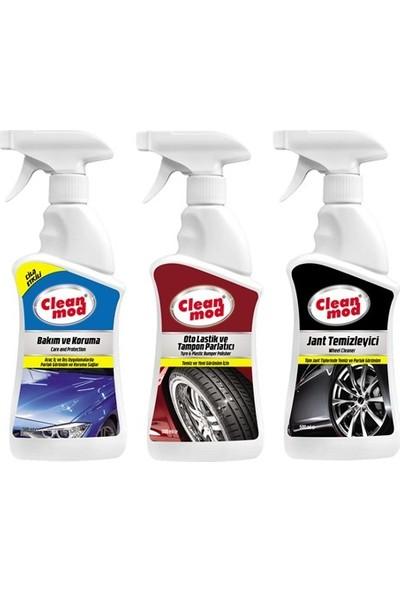 Cleanmod 3'lü Oto Dış Temizlik Koruma Seti