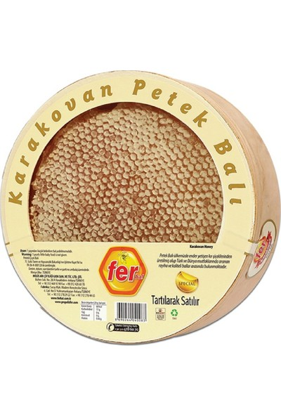 Fer Doğal Karakovan Petek Balı 1 kg