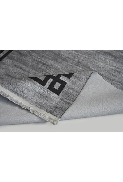Halı Special Gri Siyah Yıkanabilir Ince Kilim - HB1210 77 x 150 cm