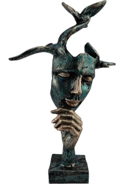 Hunga Mavi Kuşlu Mask Biblo