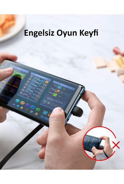 Anker Powerline Play Type-C Oyuncu Şarj Kablosu - 0.9m - A8722 - Siyah