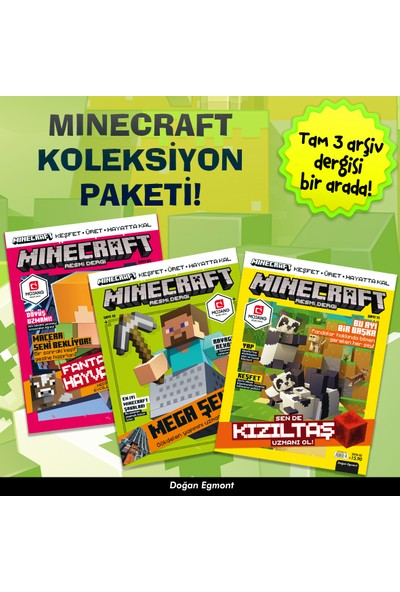 Minecraft Koleksiyon Dergi Seti 1 (3 Dergi Takım)
