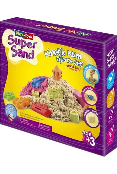 Play-Toys Super Sand Kinetik Kum Eğlence Seti 500 Gr + 6 Kalıp