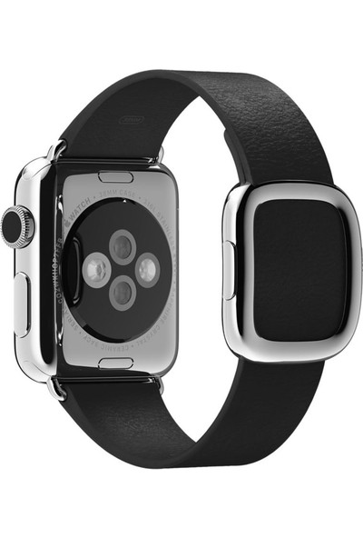 Apple Watch 38 mm - 40 mm Klasik Tokalı Siyah Kayış -L- MJY92ZM/A