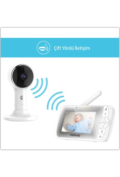 """Motorola LUX64 Connect Wi-Fi 4.3"""" FHD LCD Bebek Kamerası"""