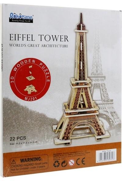 Robotime 3D Ahşap Puzzle Eyfel Kulesi -MJ201