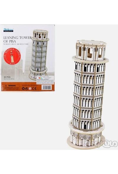 Robotime 3D Ahşap Puzzle Pisa Kulesi- MJ212