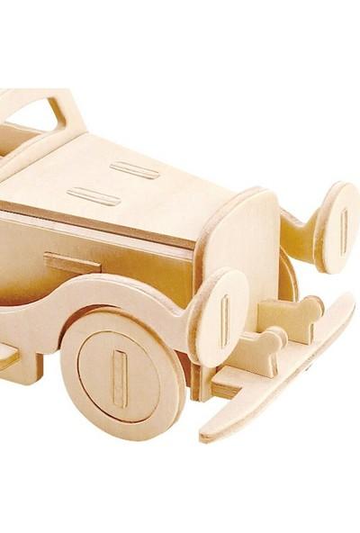 Robotime 3D Mini Ahşap Puzzle Klasik Araba - JP110