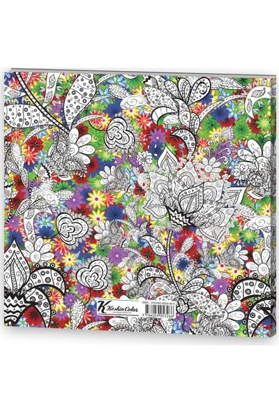 Keskin Color 25 x 25 32 Yaprak Yetişkin Boyama Kit - Renkli Bahçe