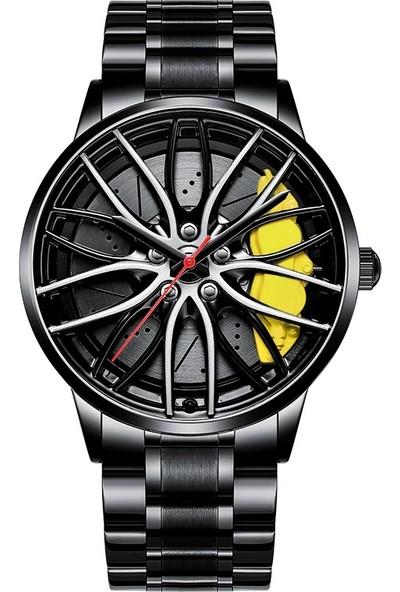 Nibosi Erkek Yarış Saati Mekanik İç Tasarım Su Geçirmez Paslanmaz Çelik
