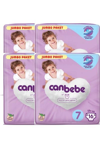Canbebe Bebek Bezi 7 Beden 16'lı x 4 Paket