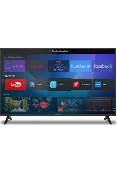 Navitech, LDS-5877UHD 58'' Android Smart, 4K UltraHD LED Ekran