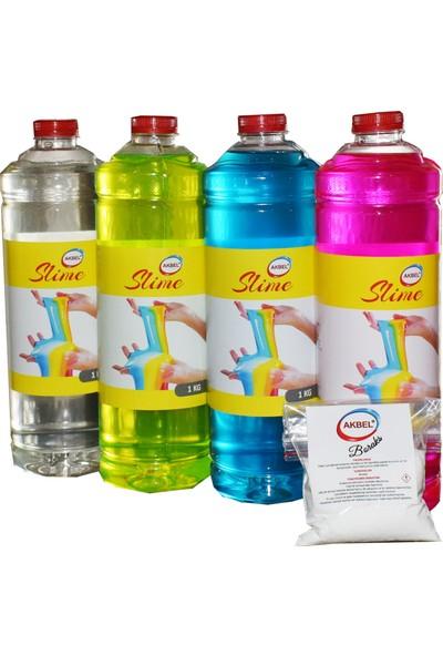 Akbel Zıp Zıp Oyun Jeli 4 Renk + Boraks Set