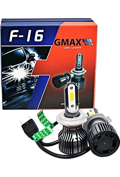 GMAX H7 Mini LED Xenon Şimşek Etkili Beyaz Oto Far Aydınlatma Beyaz Ampul Zenon