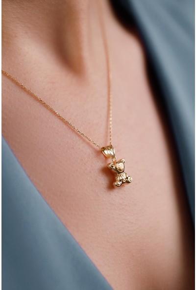 Mithra Jewelry Üç Boyutlu Panda Gümüş Kolye 925 Ayar