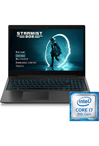 "Lenovo L340 Intel i7 Core 9750H 16GB 1TB + 1TB SSD GTX1650 FreeDos 17.3"" FHD Taşınabilir Bilgisayar 81LL000YTXH2"