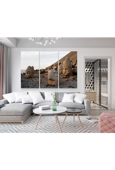 Meteor Galeri Nemrut Dağı Heykelleri 3 Parçalı Kanvas Tablo