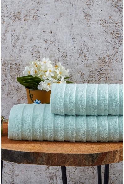 Laura Bella Laodikya 2'li Banyo Havlu Seti Yeşil