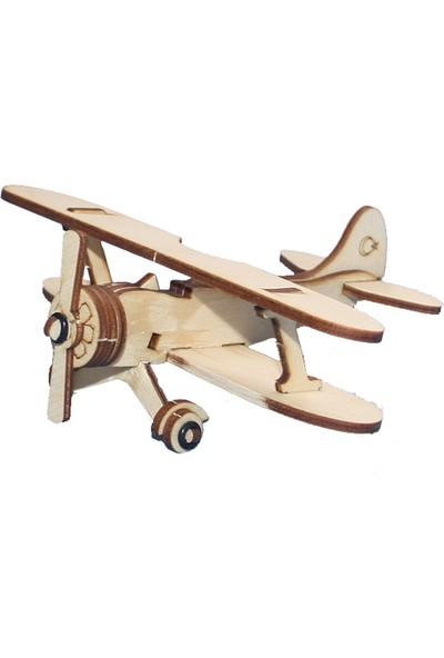 Hobi Modelci Nostaljik Ahşap Maket Uçak Nostalji