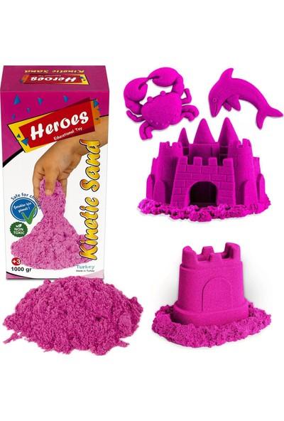 Heroes Kinetik Kum 1000 gr Pembe