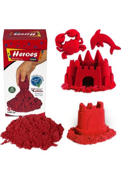 Heroes Kinetik Kum 1000 gr Kırmızı