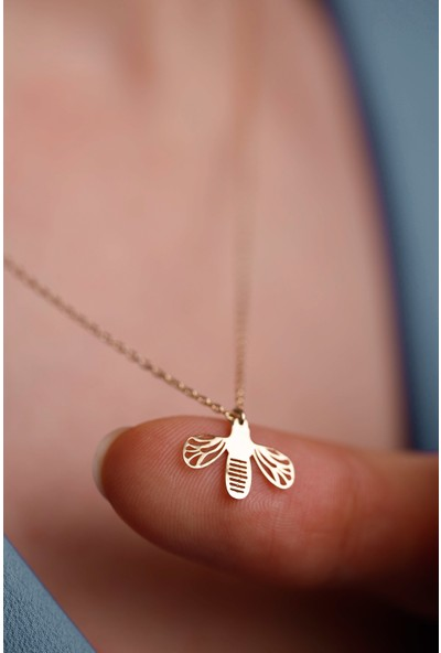 Mithra Jewelry Arı Origami Gümüş Kolye 925 Ayar
