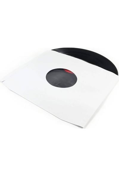 Çıtırtılı Sesler LP Plak Zarfı (Antistatik Kaplamalı - 20 Adet) - Beyaz