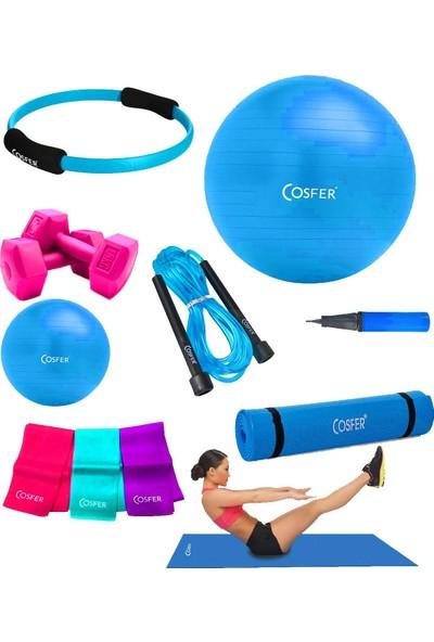 Cosfer CSF-TR08 8 Parça Pilates Seti