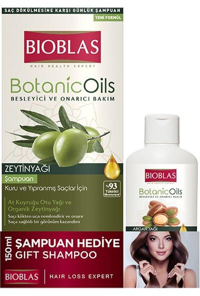 Bioblas Zeytinyağlı Şampuan 360 ml + Argan Şampuan 150 ml