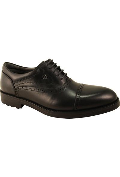 Forelli 36204 Erkek Siyah Deri Comfort Ayakkabı