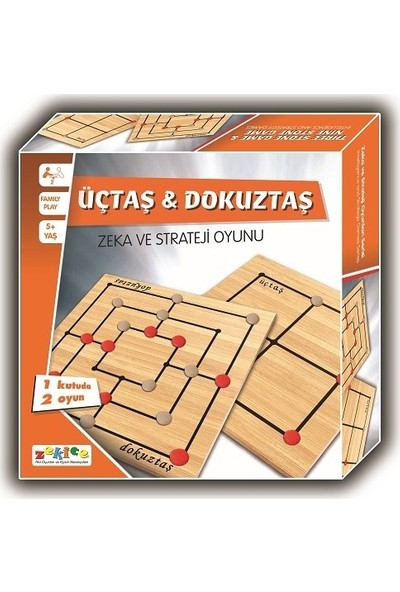 Zekice Üçtaş Dokuztaş Zeka Strateji Oyunu
