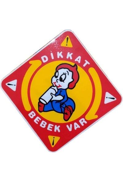 Passpano Dikkat Arabada Bebek Var Sticker 4 Adet