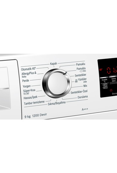 Bosch WAT24S80TR I-Dos A+++ 1200 Devir 9 kg Çamaşır Makinesi