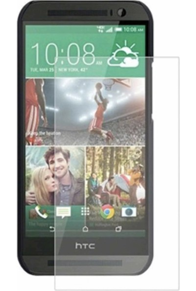 HerBütçeye Maxi HTC One E8 Şeffaf Temperli Cam