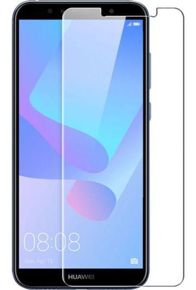 HerBütçeye Maxi Huawei Y6 2018 Şeffaf Temperli Cam