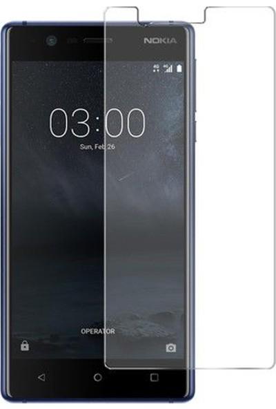 HerBütçeye Maxi Nokia 3 Şeffaf Temperli Cam