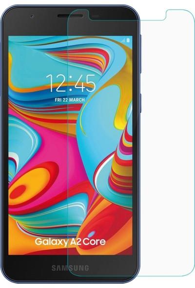 HerBütçeye Maxi Samsung Galaxy A2 Core Şeffaf Temperli Cam