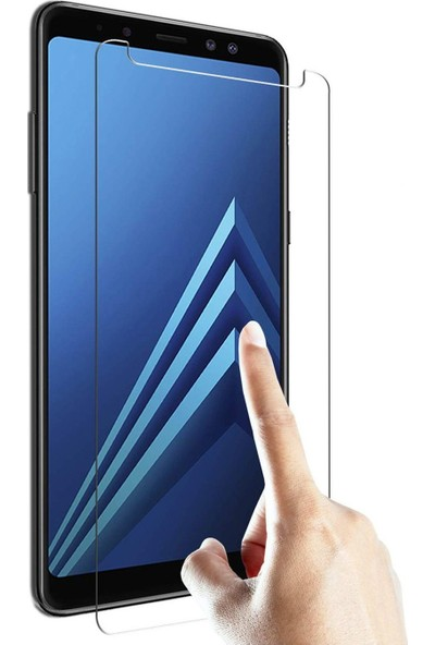 HerBütçeye Maxi Samsung Galaxy A8 2018 Şeffaf Temperli Cam